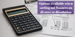 Finances on Divorce